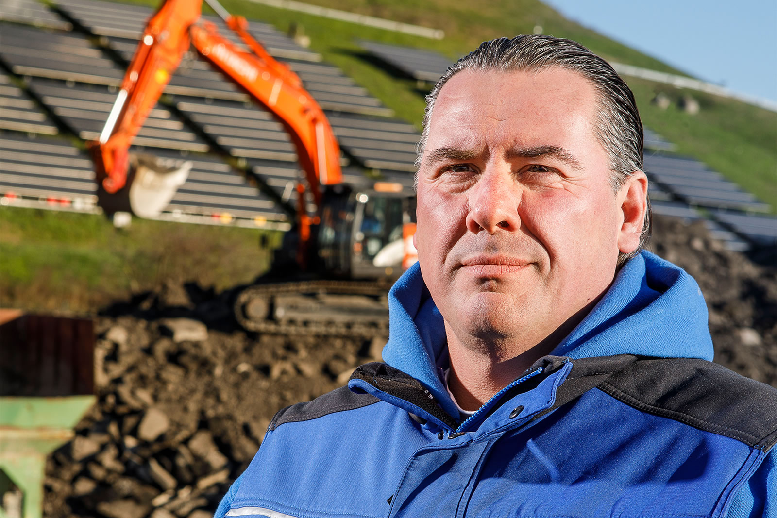 Hitachi ZX300LCN-6 excavator Owner Fred Walther