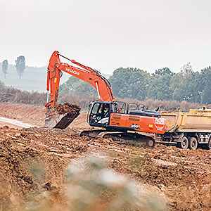 Hitachi ZX350LC-6 excavator in Poland