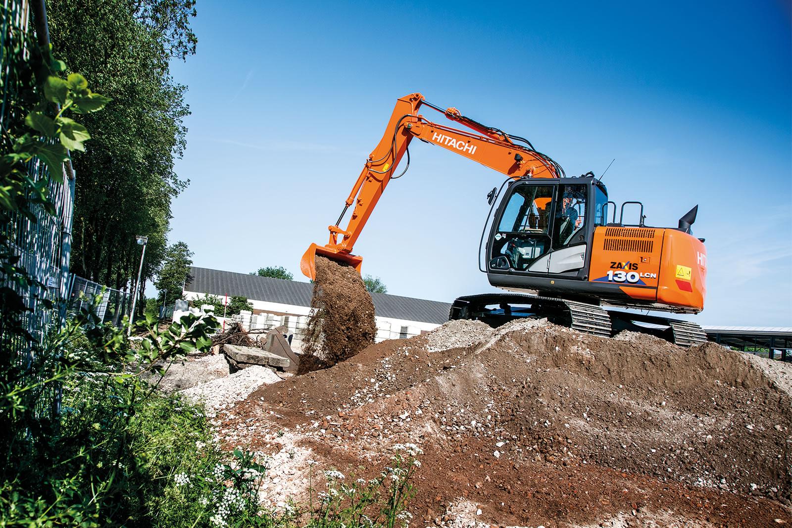 Hitachi ZX130-6 excavator in action