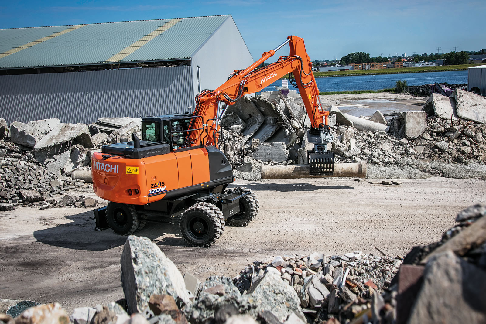 Zaxis-6 wheeled excavators offer high productivity