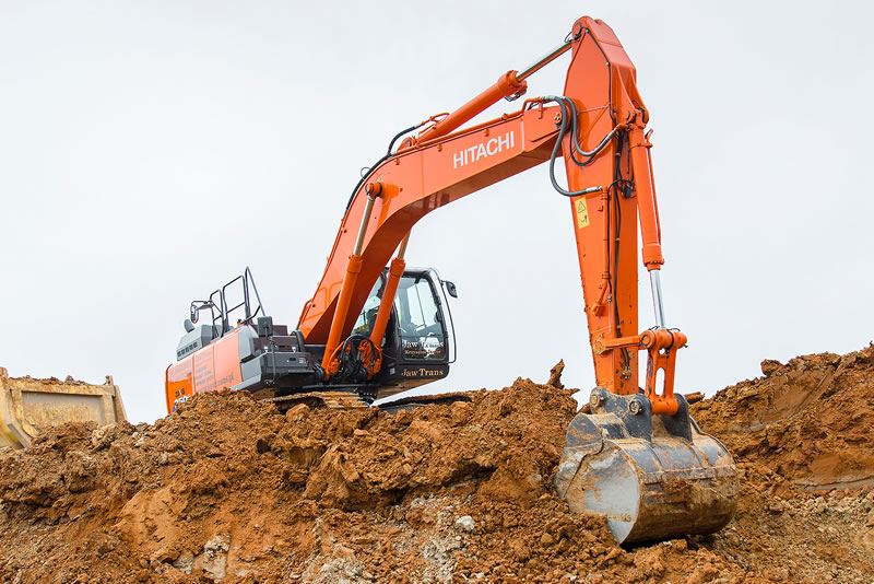 Hitachi ZX350LC-6 excavating earth in Poland