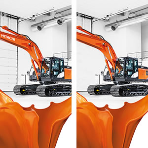 Hitachi excavator photos with differences