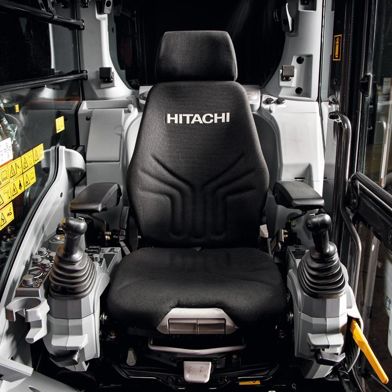 Hitachi Zaxis-7 excavator cab seat