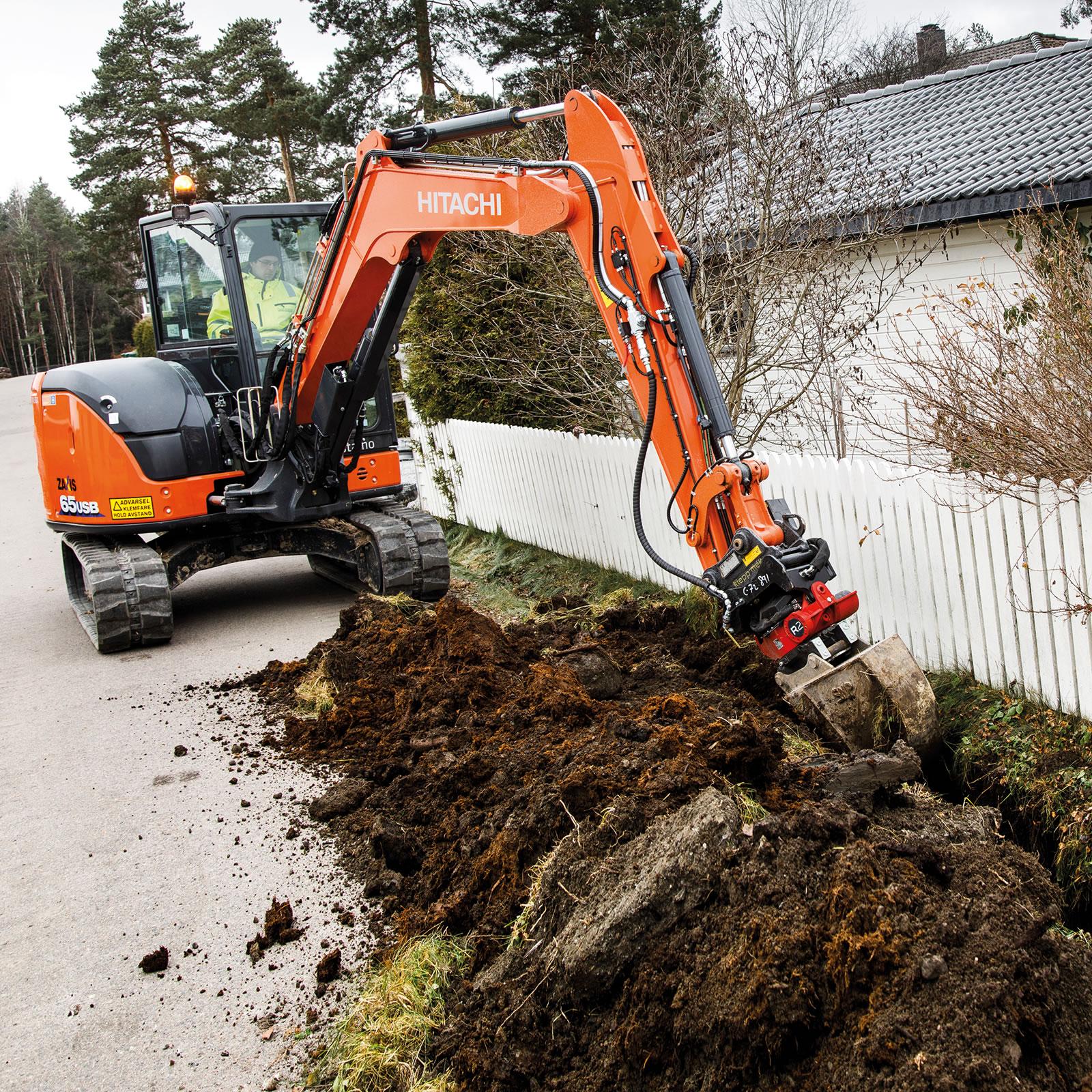 Hitachi ZX65USB-6 excavator in Norway
