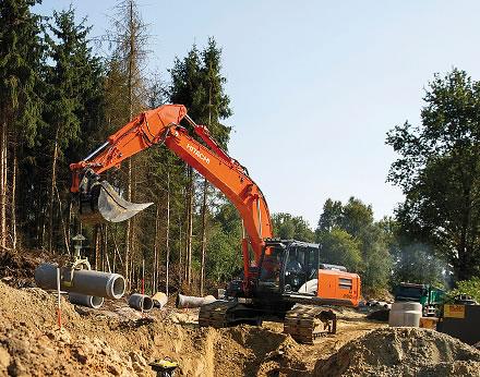 Zaxis-5 excavators in Europe