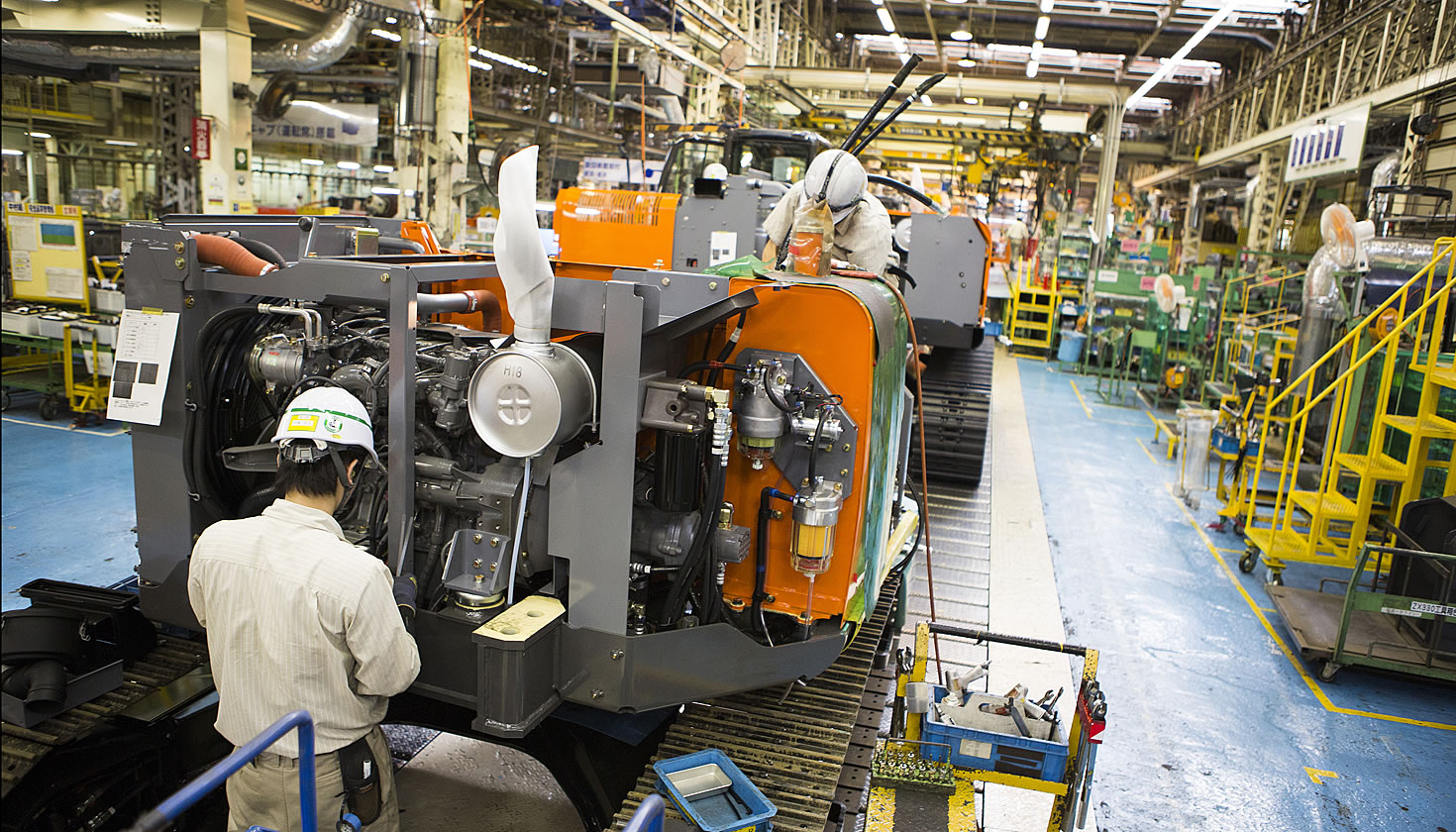 Zaxis-3 and Zaxis-5 assembly line