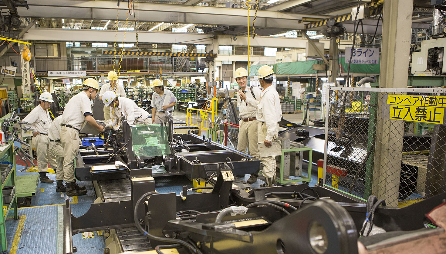 Mixed-model assembly line