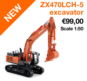 Hitachi ZX470LCH-5 excavator scale model