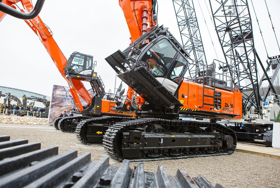 Hitachi ZX470LCH-5 demolition excavator at Bauma