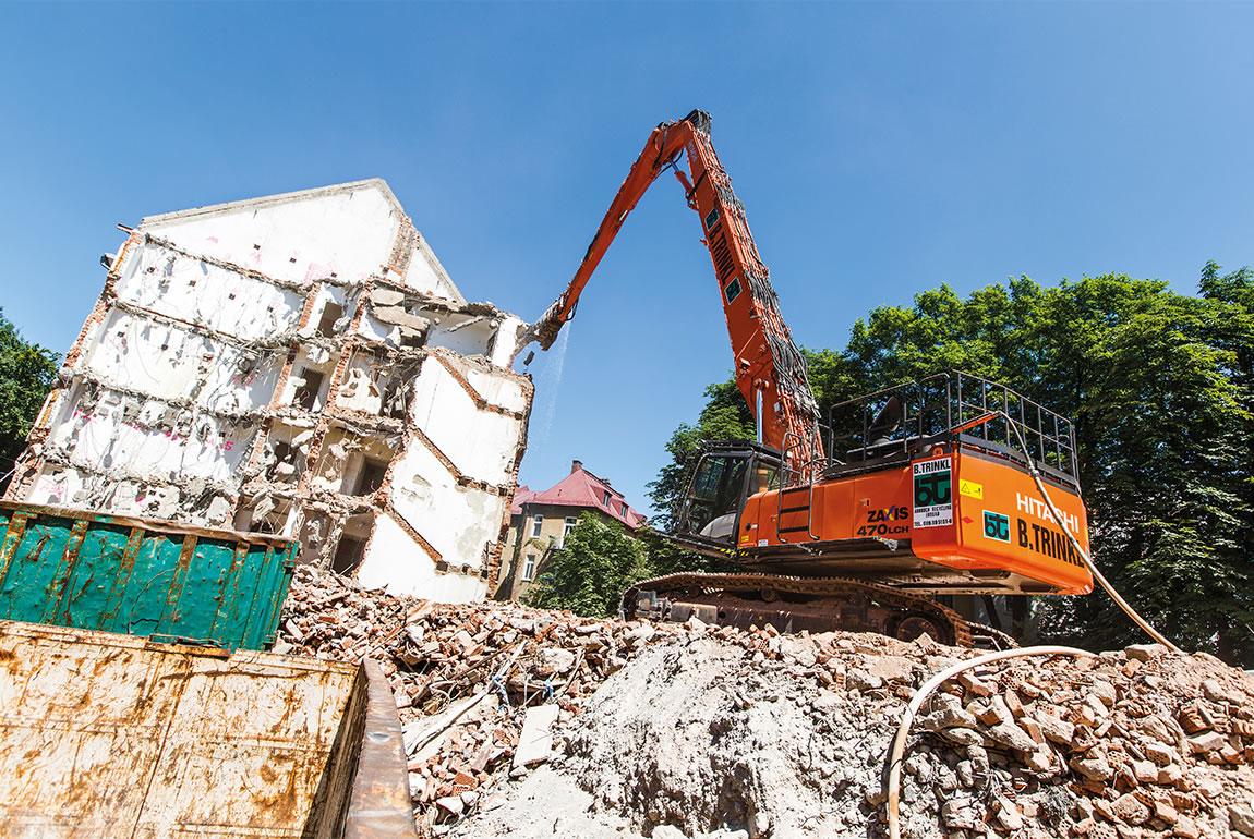Hitachi ZX470LCH-5 demolition excavator