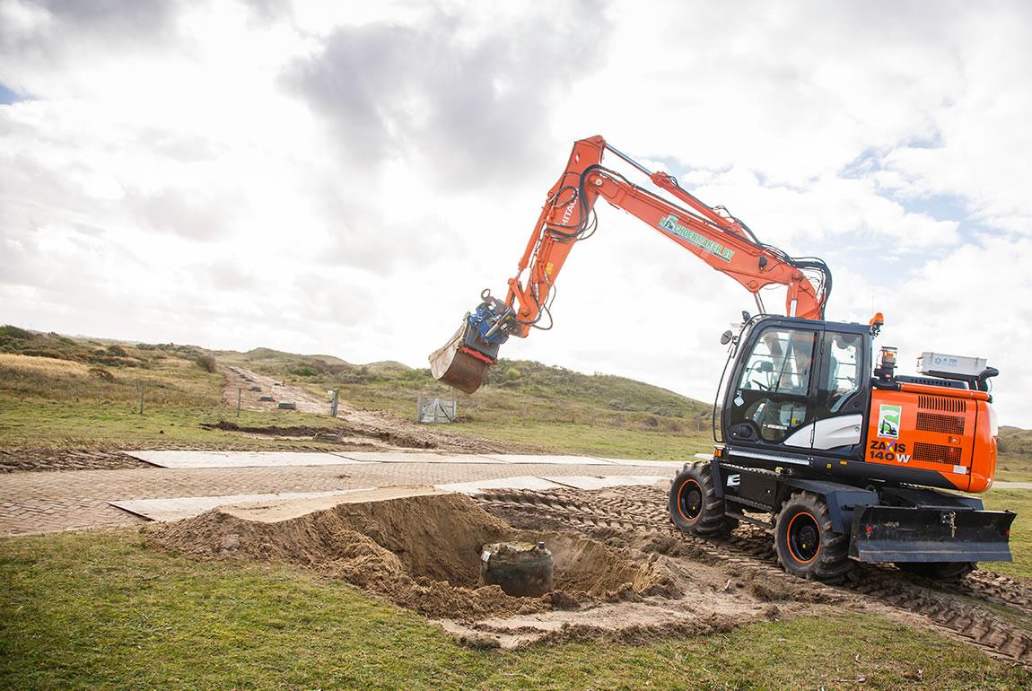 Hitachi ZX140W-5 wheeled excavator