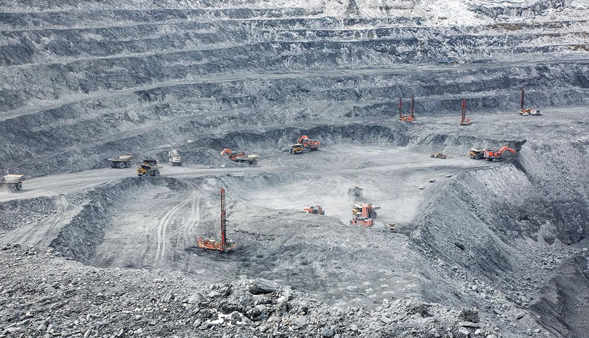Five EX3600-6 ultra-large mining excavators