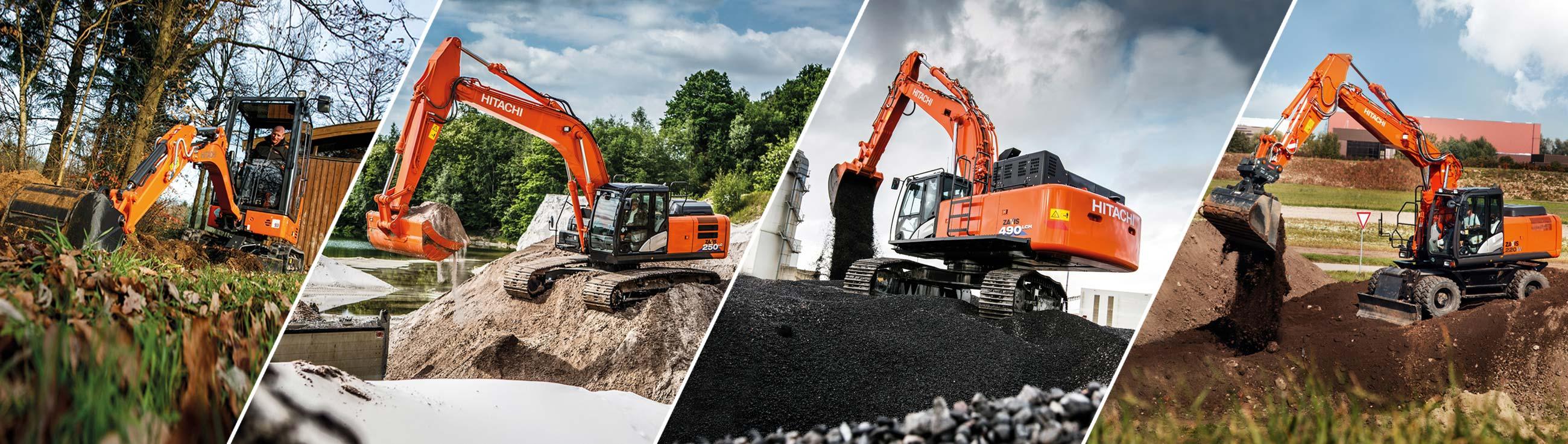 excavators hitachi construction machinery