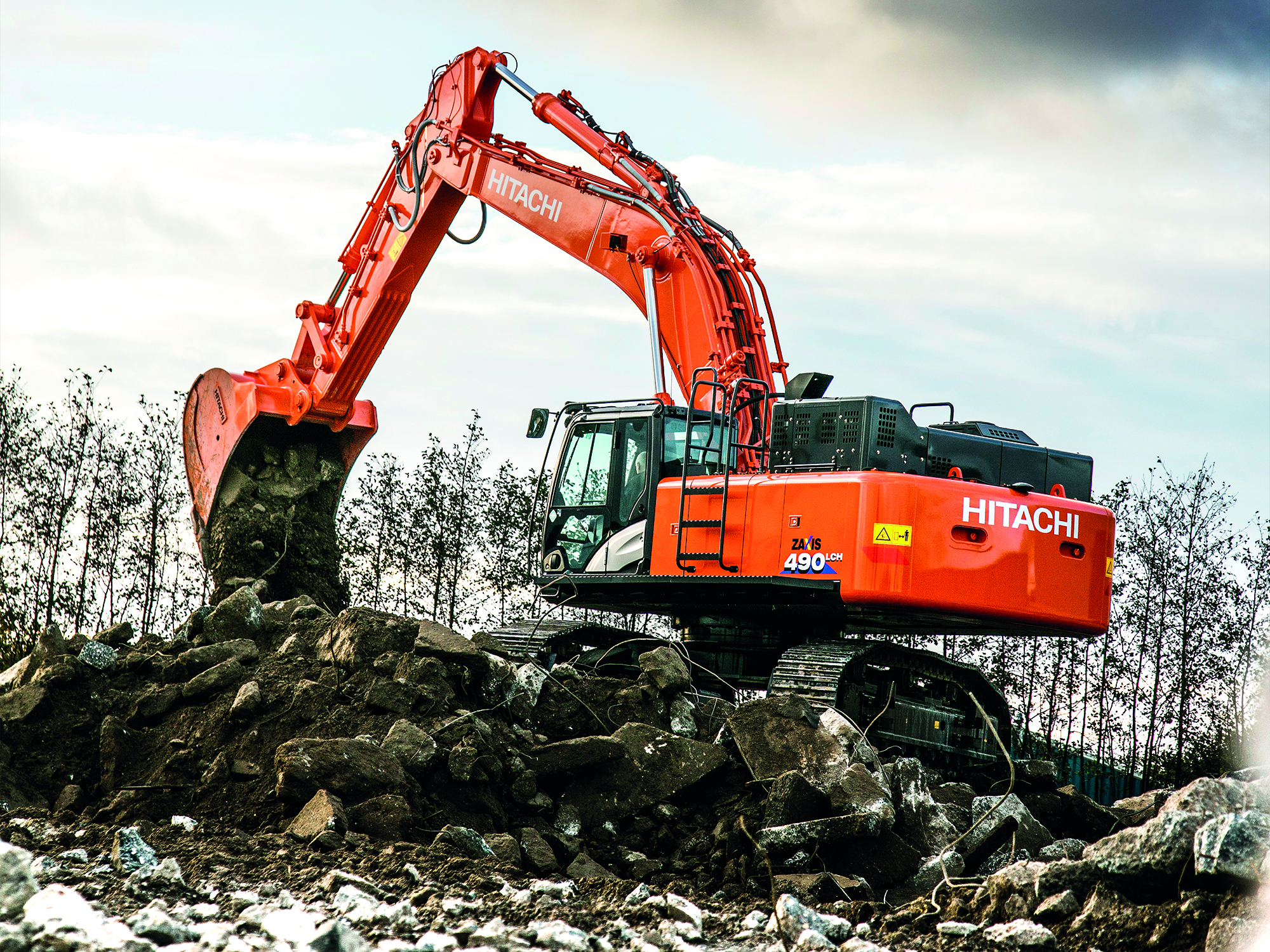 Hitachi Zx490lch 6 To Be Unveiled At Bauma 2016 Hitachi