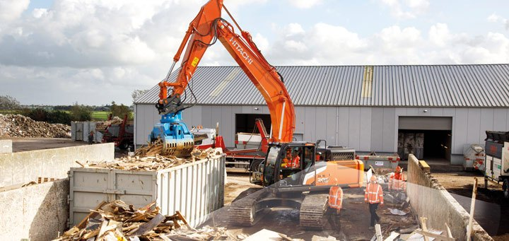 Hitachi Zaxis-7 safety camera system aerial angle