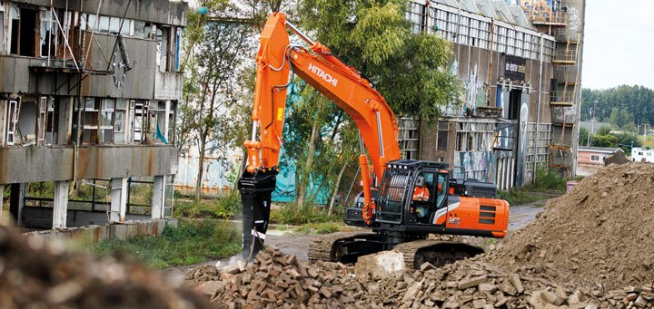 Hitachi Zaxis-7 excavators attachment versatility