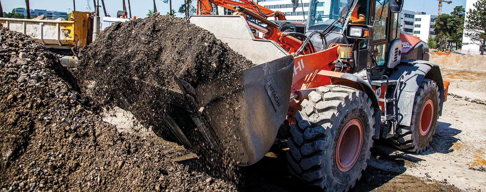 Hitachi buckets for wheel loaders and excavators