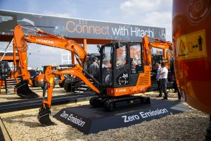 Hitachi ZE19 at Bauma 2019