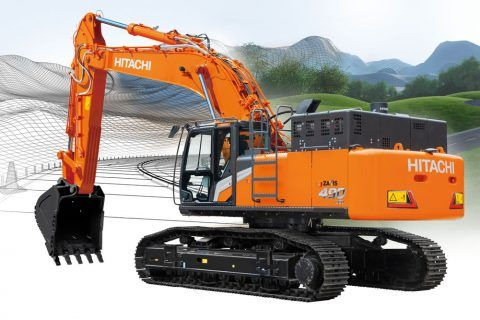 Hitachi ZX490-7 large excavator